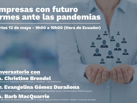 Conversatorio Empresas con futuro firmes ante las pandemias contó con participación de CERES
