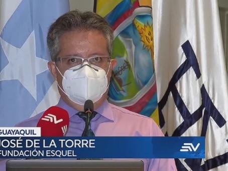 FUNDACIÓN ESQUEL entrega estación de oxigenoterapia para pacientes COVID en Guayaquil