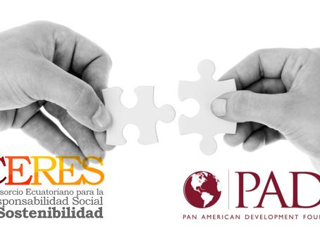 CERES firmó convenio con PADF - Pan American Development Foundation