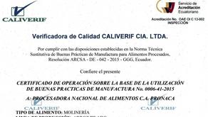 Piladora de Arroz Pronaca, la primera certificada en BPM
