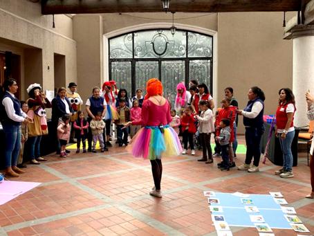 Niños de la Fundación Reina de Quito participaron en una feria de entretenimiento organizada por JW
