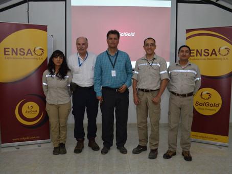 SOLGOLD apoya a la Alcaldía de Ibarra y el proyecto de Geoparque