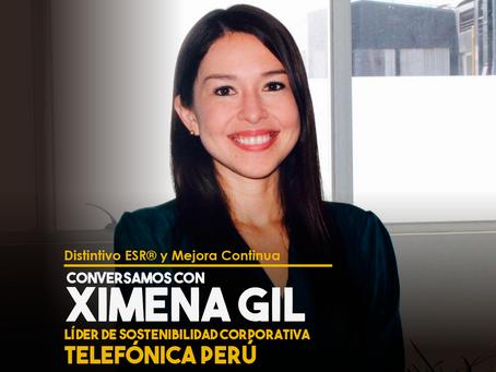Conversamos con Ximena Gil, Líder de Sostenibilidad Corporativa en Telefónica Perú.