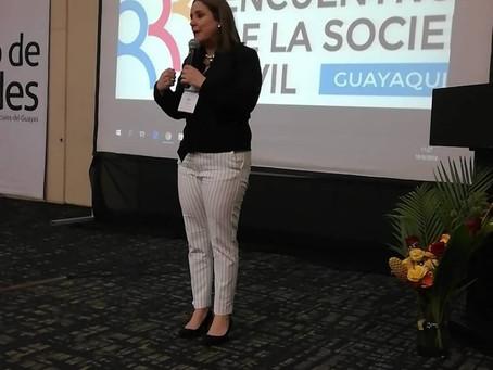 CERES participó como ponente en Primer Encuentro de la Sociedad Civil en Guayaquil