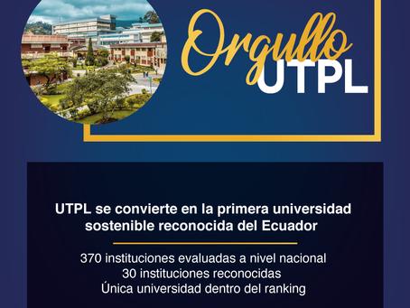 UTPL se convierte en la primera universidad sostenible del país