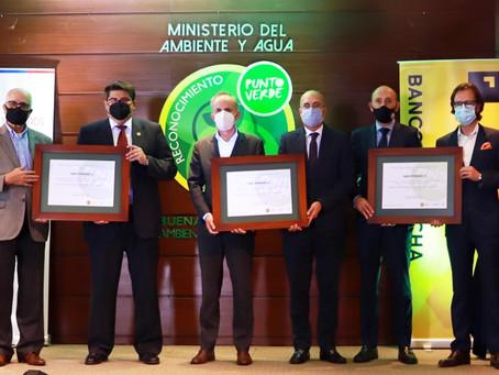 BANCO PICHINCHA reconocido como Punto Verde por el Ministerio de Ambiente