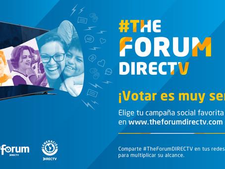 DIRECTV presenta la 6ta edición del concurso The Forum,  que convoca y premia a ONGS de la región