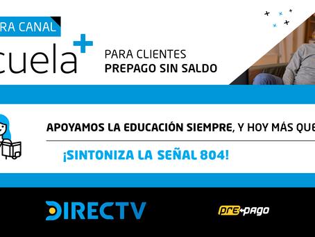 DIRECTV continúa apoyando la educación a distancia con la apertura del canal Escuela+Para Todos
