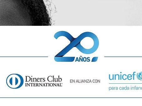 DINERS CLUB del Ecuador y Unicef celebran 20 años de alianza
