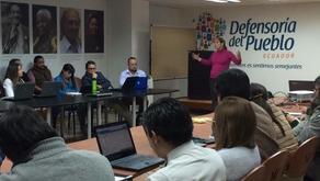 Evangelina Gómez-Durañona dio una charla en la Defensoría del Pueblo