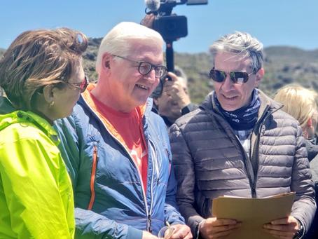 EPMAPS recibe al presidente de Alemania en la Reserva Ecológica Antisana