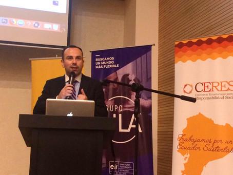 Charla sobre Conciliación Familiar en las empresas fue dictada en Quito
