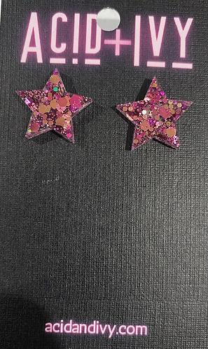16mm resin Star studs