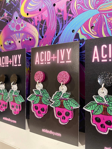 Skull Planter Earrings