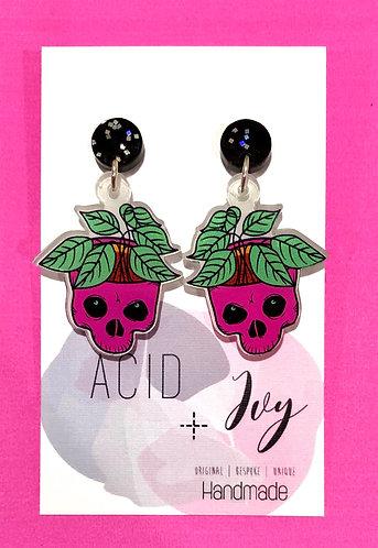 Skull Planter Earrings