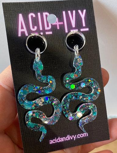 Aquamarine Resin Serpents