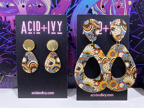 Retro 70s earrings