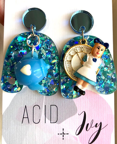 Holographic Alice Earrings