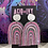 Thumbnail: XL Holographic Silver Rainbows in Pink