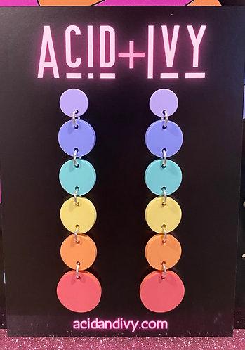 Pastel Rainbow chain dangles