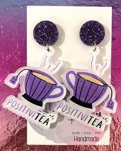 Positivi-Tea Dangle Earrings