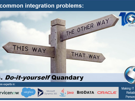 5 common integration problems: Do-it-yourself Quandary