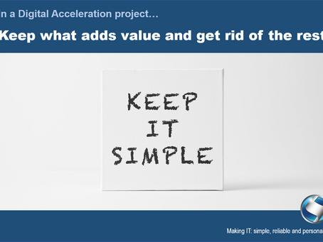 Simplicity is KEY in Digital Acceleration