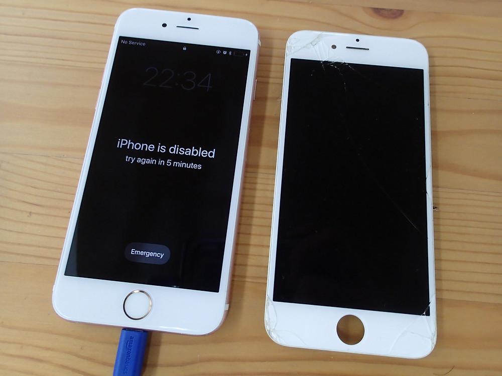 iPhone6s画面交換後ゴーストタッチがあった痕跡