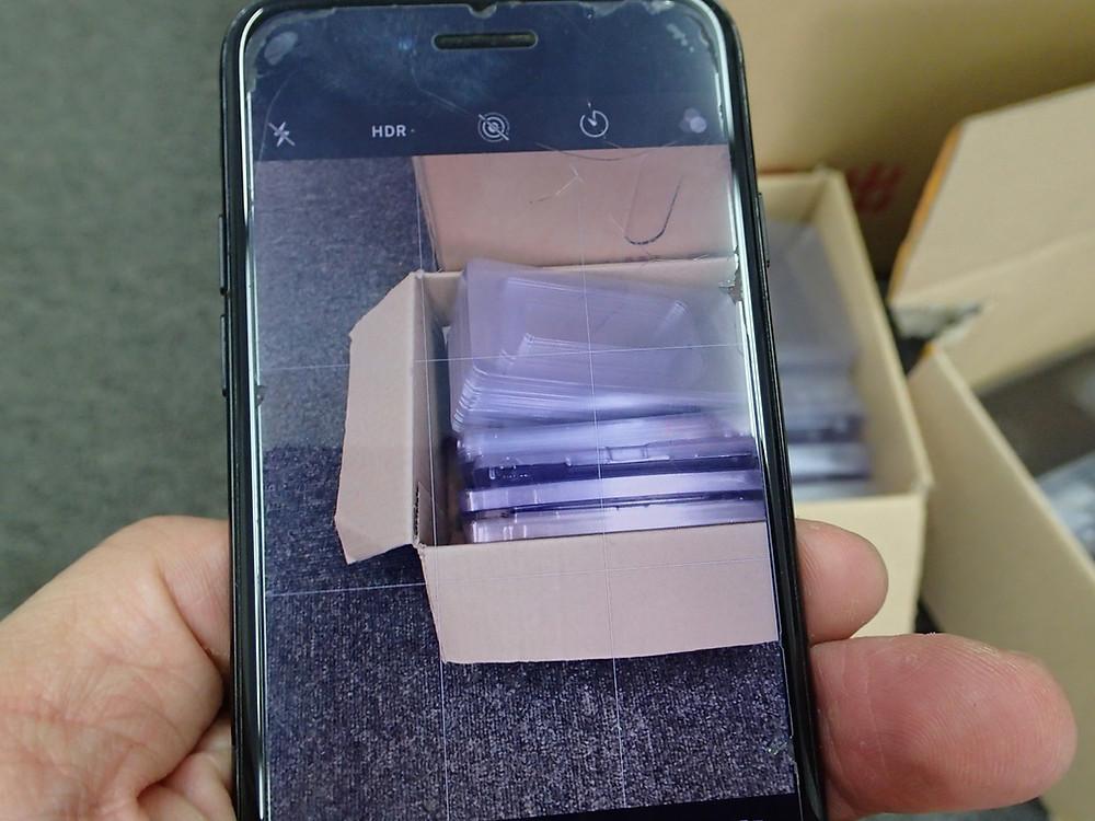 iPhone8カメラ交換後正常に表示している