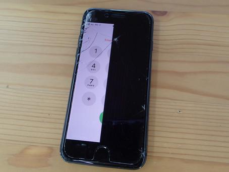iPhone8修理でコピー画面は避けたいので再生画面に-正しい画面交換-