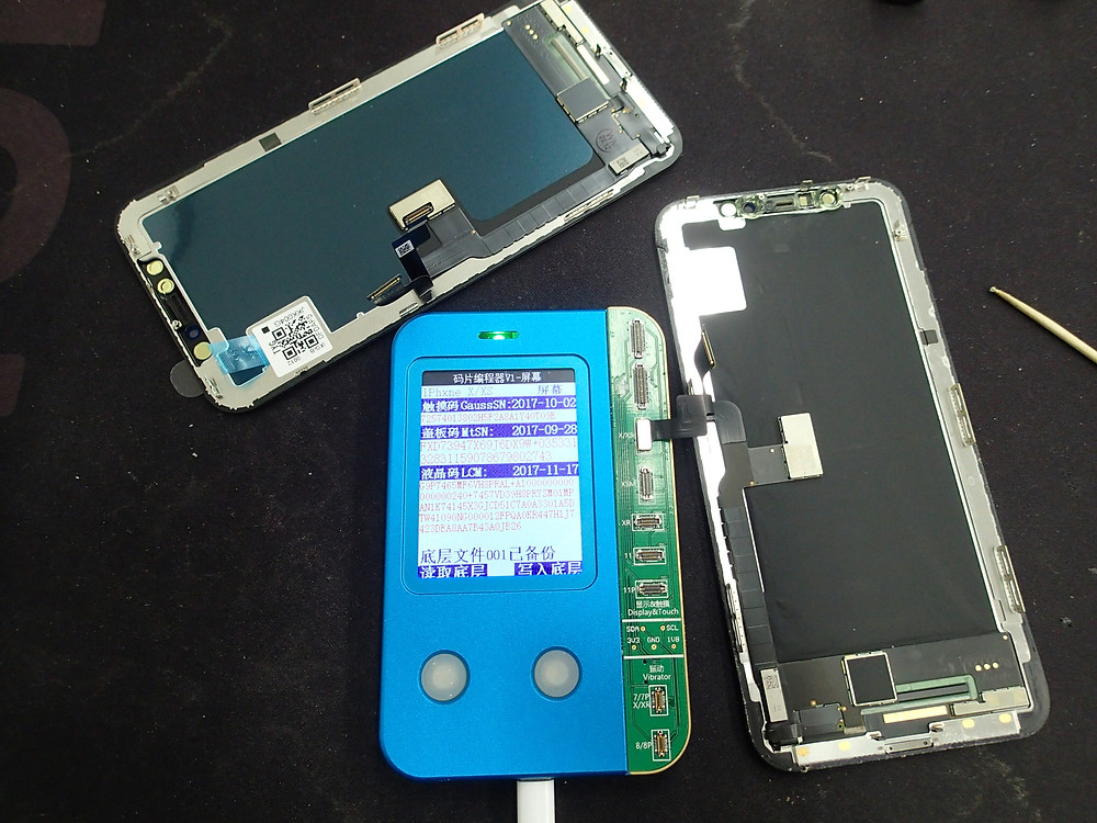 iPhoneXの環境光修復作業
