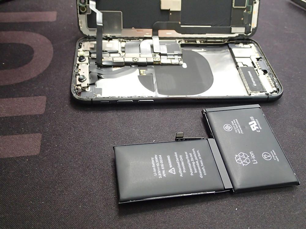 iPhoneXバッテリーの交換