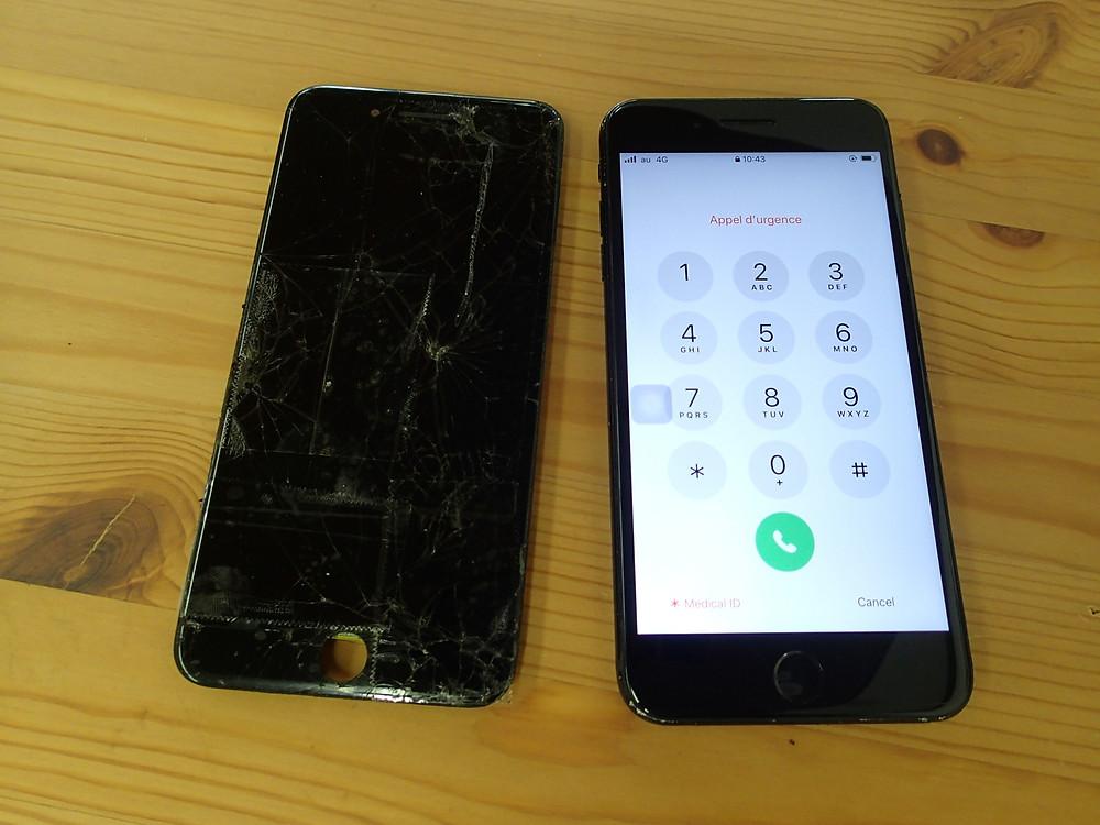 iPhone6sPlus画面交換後、一般普及画面を利用