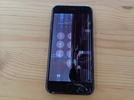 iPhone7画面交換を再生画面で修理しました