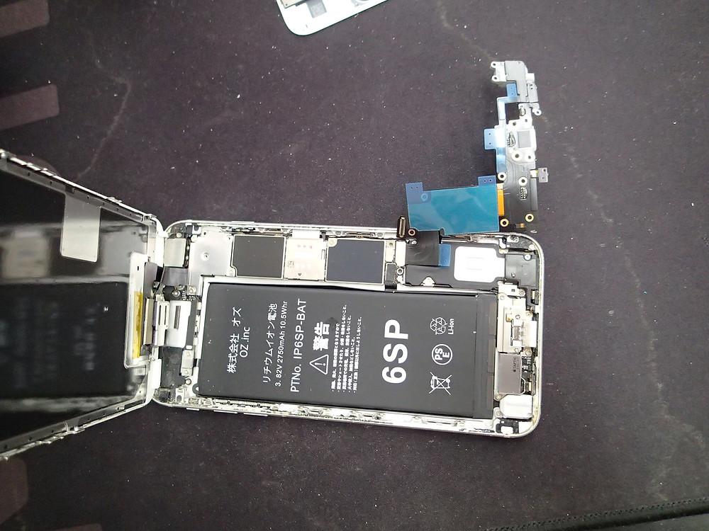 充電コネクターを仮組してマイクのテストをする