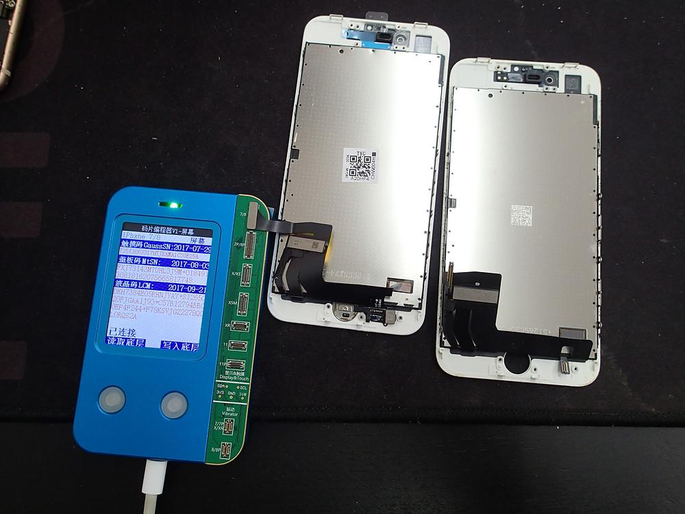 iPhone8画面交換で格安画面でもTrueTone情報が書き込めた