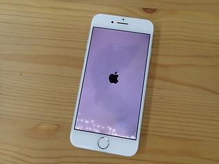 水没したiPhoneのリンゴーループ