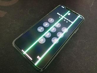 iPhoneに出てきた緑の線
