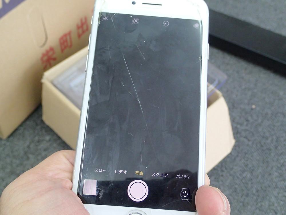 iPhone8カメラの破損