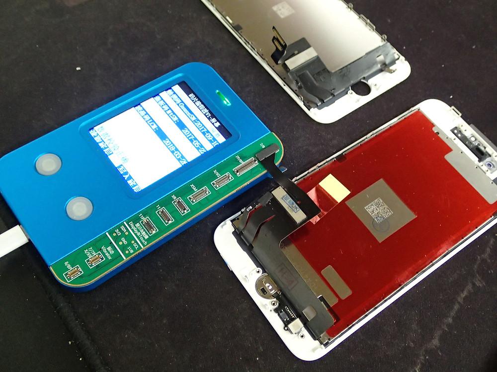iPhone8の環境光修復作業