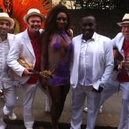Performing with Paraiso School Of Samba and top Rio samba singer Vantuir
