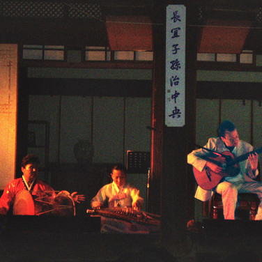 With Chris Glassfield and Korean traditional musicians