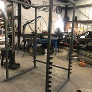 Metal gym rack