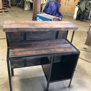 Metal and wood desk