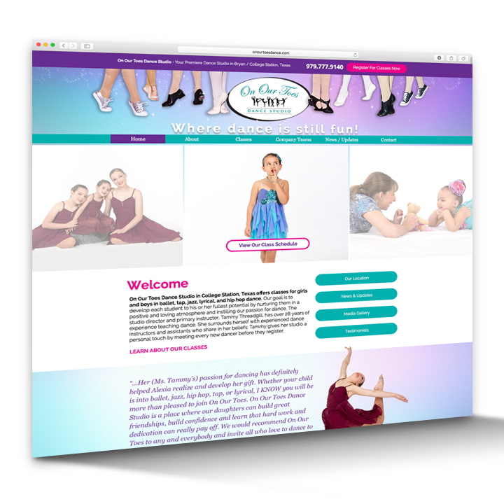 Website Design - Dance Studio