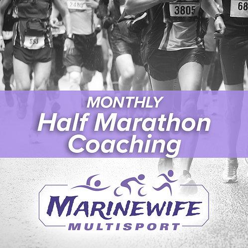 Monthly Half Marathon Coaching