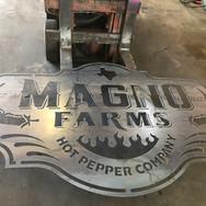 Custom metal business sign
