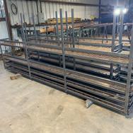 Custom metal shelving