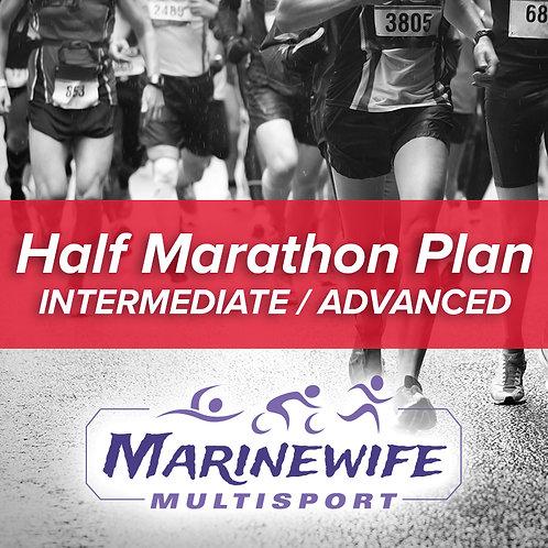 Half Marathon Training Plan - Intermediate/Advanced