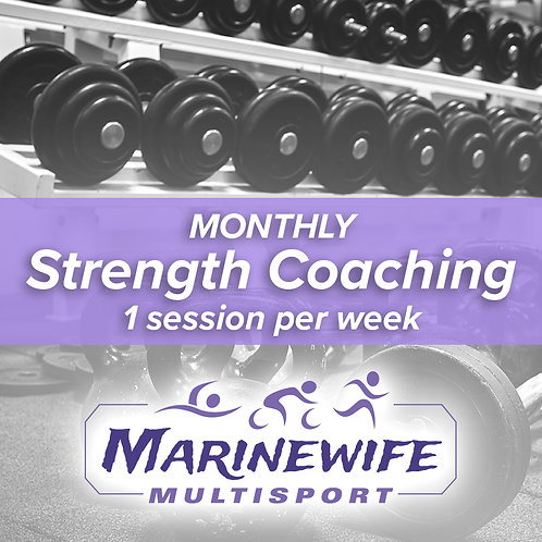 Monthly Strength Coaching: 1 session per week